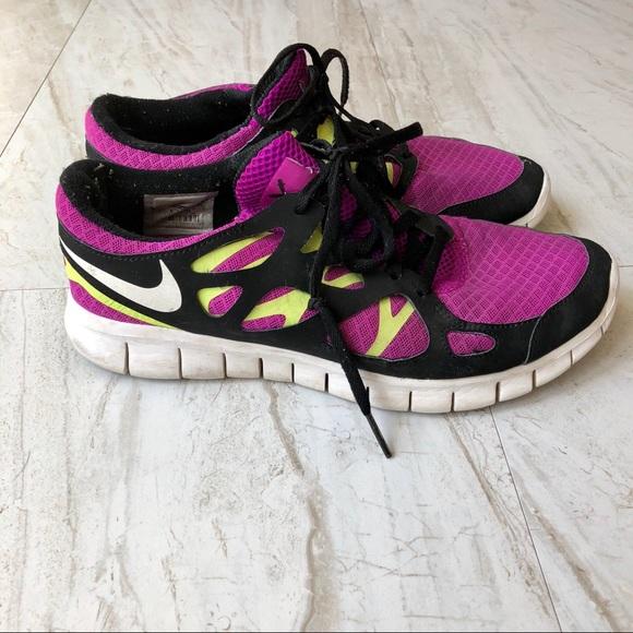 Nike Shoes Free Run Purple Neon OrangePoshmark Purple og Neon Yellow Free Run 2 Poshmark